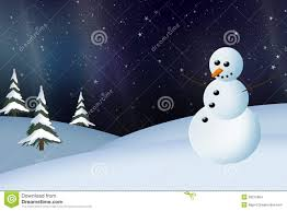 snowman and northern lights christmas card stock images image