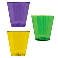 mardi gras glasses amscan green purple and yellow plastic mardi gras 2 oz