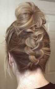 plait at back of head hairstyle upside down dutch braid to bun youtube