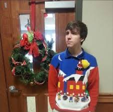 black 3d sweater with stuffed moose ugliest christmas sweaters