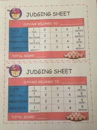 just a simple printable grading sheet for the judges based on