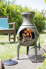 Chiminea With Pizza Oven Chiminea Outdoor Patio Heater Chimeneas Bbq Grill U0026 Log