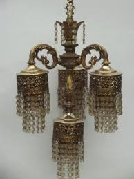 Brushed Brass Chandelier Vintage Hanging Lamps And Chandeliers