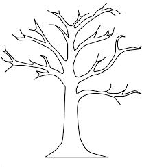 Fall Tree Template free tree template pertamini co