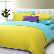Blue And Yellow Duvet Cover Yellow Solid Duvet Cover And Sheet Bedding