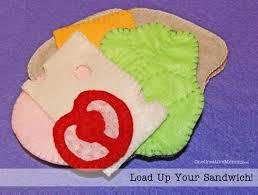 felt sandwich and freebie patterns onecreativemommy