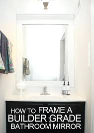 diy bathroom mirror frame ideas molding pinterest youtube u2013 elpro me