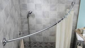 Tension Shower Curtain Rod Shower Curtain Tension Rod Wont Stay Up Home Design Ideas Within