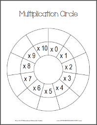 multiplication circle worksheets student handouts