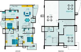 Map Floor Plan Floor Plans In 3d On With Residential Loft Plan Printing Of House