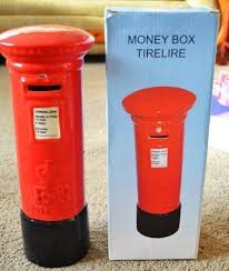 big and black authentic royal mail ceramic pillarbox post box
