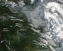 Canada Wildfires by Wildfires In Alberta And Saskatchewan Nasa