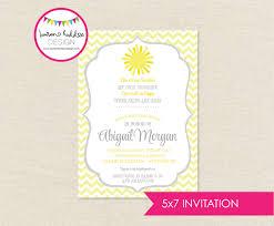 sunshine invitation diy you are my sunshine baby shower invitation only