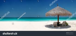 Small Beach Chair Beach Chairs Umbrella On Beautiful Island Stock Photo 54949447