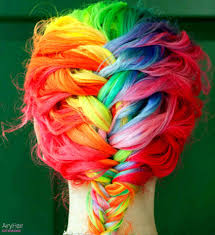 rainbow color hair ideas 20 crazy rainbow hair color ideas for 2016