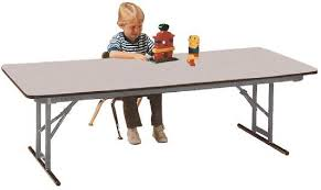 Folding Table Adjustable Height Fabulous Counter Height Folding Table All Rectangular Adjustable