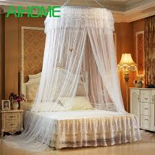 Lace Bed Canopy Hanging Dome Mosquito Net Luxury Princess Pastoral Lace Bed