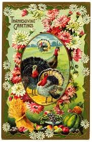 here is a free vintage thanksgiving postcard for you front and