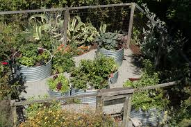 garden fences and landscape industrial with vegetable garden