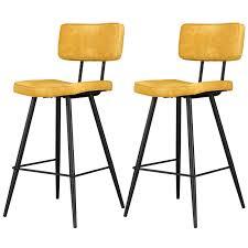 chaises jaunes chaise de bar jaune lot de2 achetez les chaises de bar