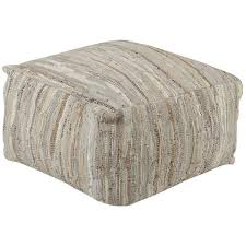 Gray Leather Ottoman Square Poufs And Round Ottomans For Home Decorating Accents U2013 Sky Iris