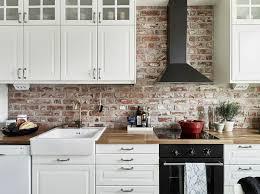 cuisine avec brique stunning deco cuisine brique blanche gallery yourmentor info