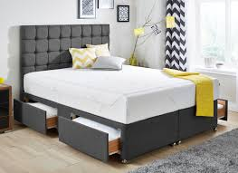 king sofa beds tempur sensation deluxe 27 divan bed dark grey medium dreams
