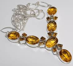 yellow gemstone necklace images Yellow mystic topaz lemon topaz silver necklace crystal jpg