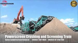 powerscreen crushing and screening train including pt600 youtube