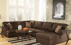 Decorating Ideas With Sectional Sofas Beautiful Brown Sectional Sofa Decorating Ideas Images
