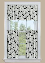 Kitchen Curtains With Fruit Design by Furniture Modern Cafe Curtains With Base Valance For Window