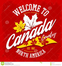 canada country welcome sign with maple leaf stock vector image