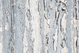 old rustic blue and grey wood background with peeled color in