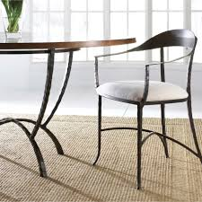 Rod Iron Dining Chairs Pictured Is The Hudson Wrap Dining Arm Chair And Hudson Dining