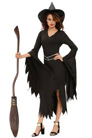 costumes scary fancy dress role play witch costume with
