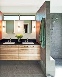 Modern Bathroom Vanity Cabinets - bahtroom calm wall divider and floor pattern color in modern