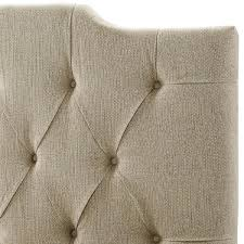 Tufted Linen Headboard by Amazon Com Pulaski Everly Panel Tufted Linen Headboard