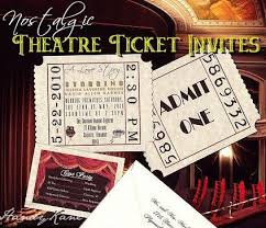 movie ticket wedding invitations u0026 reception cards u2013 handykane com