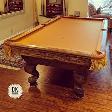 how to put a pool table together finished installing new cushion rubber leather nets and aztec felt