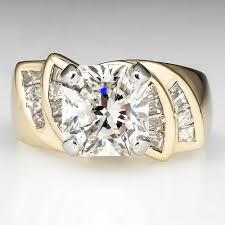 3 carat engagement ring rectangle cut 3 carat engagement ring 18k gold