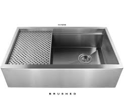 stainless steel apron sink legacy stainless farm sink brushed havens metal