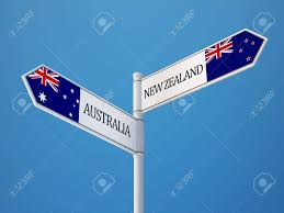 Flag New Zealand Australia New Zealand High Resolution Sign Flags Concept Stock