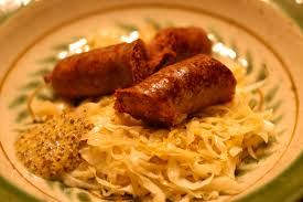 goose sausage sauerkraut and country mustard smoke cure pickle
