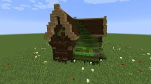 Build Small House Build Made A Small House With A Green House Minecraft