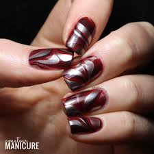 amateur manicure a nail art blog silky red water marble