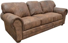 Rustic Leather Sofa by Rustic Leather Couch Cabin Western Rustic Leather Couch Set