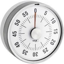 minuteur de cuisine minuteur rond de cuisine blanc tfa sur le site conrad 672469