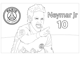neymar jr 1 olympic and sport coloring pages for adults