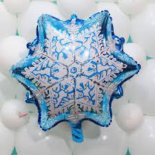 snowflake balloons 50pcs lot prismatic snowflake balloons christmas snow