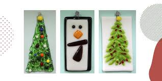 out glass fused ornaments with guest artist patti k kitschecoo